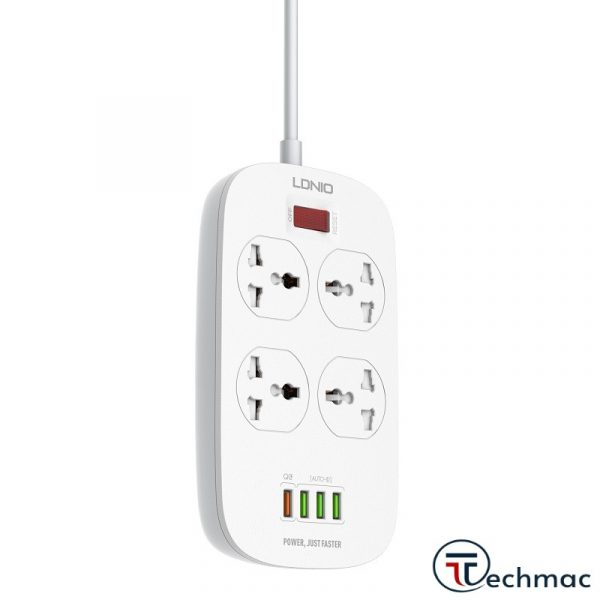 LDNIO SC4407 Power Strip 4 With Socket Outlets 4 USB Ports Price In Pakistan