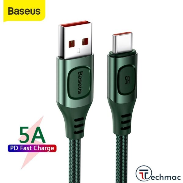 Baseus Fast Protocols Convertible Cable Type-C 5A 2M Price In Pakistan